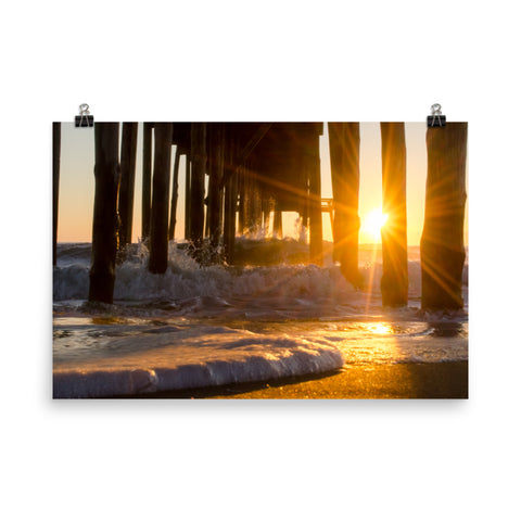 Seafoam In The Sunlight Landscape Photo Loose Wall Art Prints
