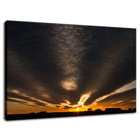 Sunset at Reedy Point Pond Landscape Fine Art Canvas Wall Art Prints