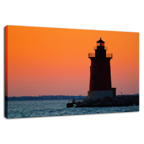 Sunset at Henlopen State Park 3 Coastal Landscape Photo Fine Art Canvas Wall Art Prints