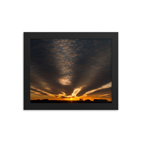 Sunset Indian River Inlet Coastal Landscape Framed Photo Paper Wall Art Prints