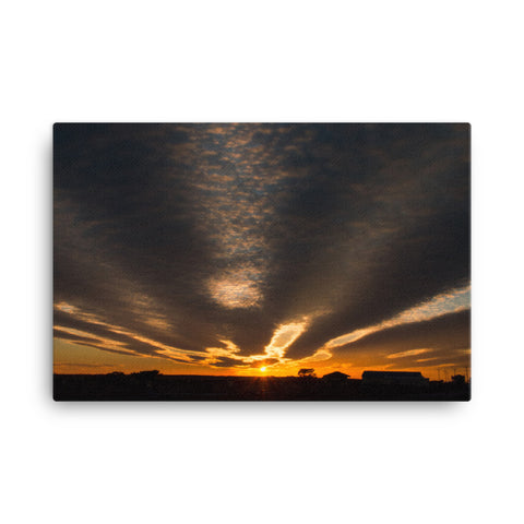 Sunset Indian River Inlet Coastal Landscape Canvas Wall Art Prints