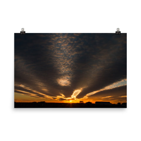 Sunset Indian River Inlet Landscape Photo Loose Wall Art Prints