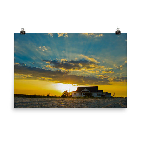 Sunset at Bowers Landscape Photo Loose Wall Art Prints