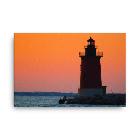 Sunset at Henlopen State Park 3 Coastal Landscape Canvas Wall Art Prints