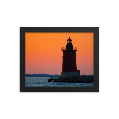 Sunset at Henlopen State Park 3 Framed Photo Paper Wall Art Prints
