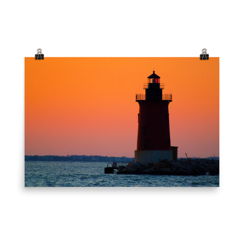 Sunset at Henlopen State Park 3 Landscape Photo Loose Wall Art Prints