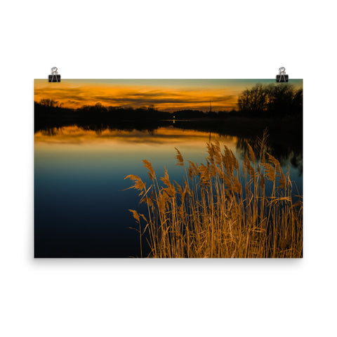 Sunset at Reedy Point Landscape Photo Loose Wall Art Prints