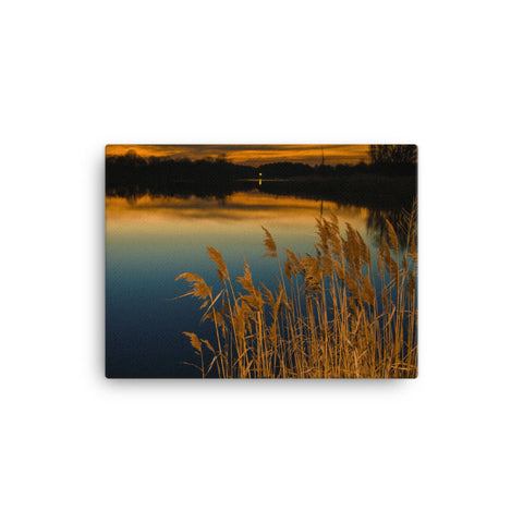 Sunset at Reedy Point Rural Landscape Canvas Wall Art Prints