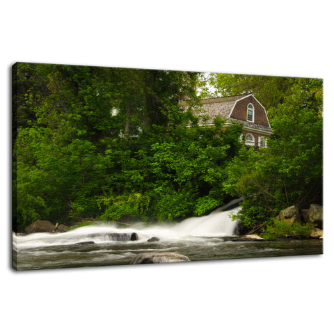 The Brandywine River and First Presbyterian Church Fine Art Canvas Wall Art Prints