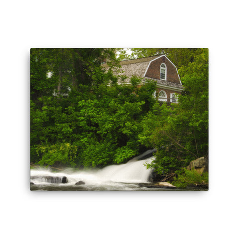 The Brandywine River and First Presbyterian Church Rural Landscape Canvas Wall Art Prints