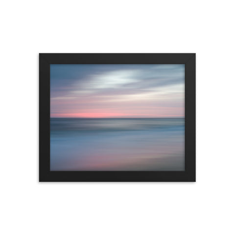 The Colors of Evening Abstract Coastal Landscape Framed Photo Paper Wall Art Prints