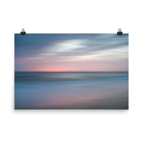 The Colors of Evening on the Beach Landscape Photo Loose Wall Art Prints