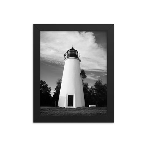 Touch the Sky Black & White Landscape Framed Photo Paper Wall Art Prints