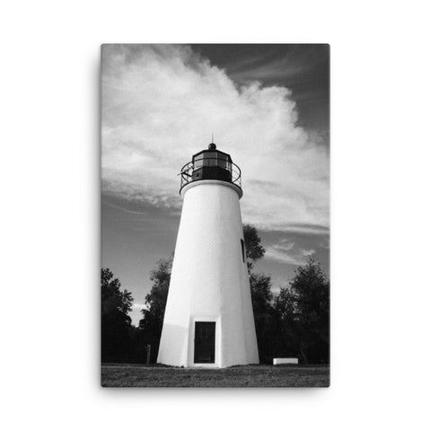 Touch the Sky Black and White Coastal Landscape Canvas Wall Art Prints
