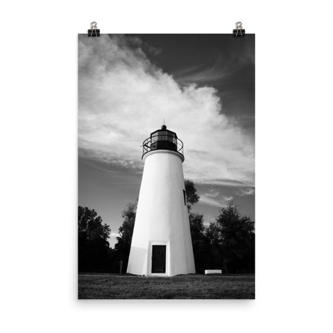 Touch the Sky Black and White Landscape Photo Loose Wall Art Print