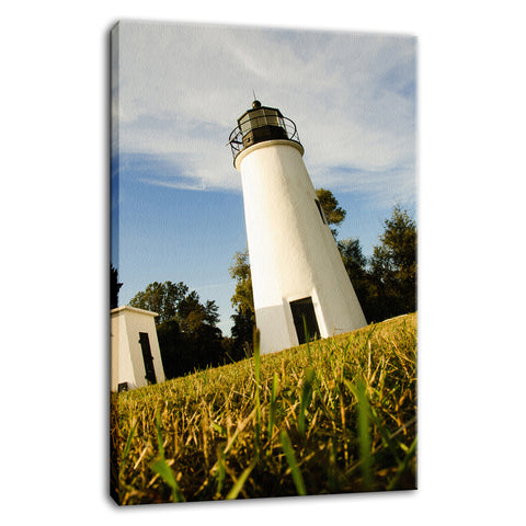 Turkey Point Lighthouse Coastal Landscape Photo Fine Art Canvas Wall Art Prints