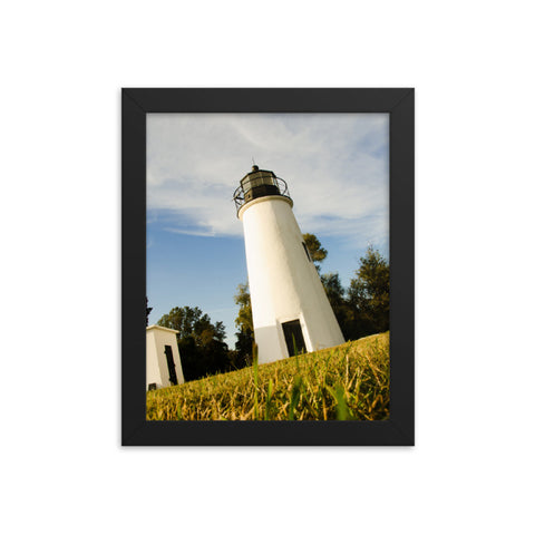 Turkey Point Lighthouse Coastal Landscape Framed Photo Paper Wall Art Prints