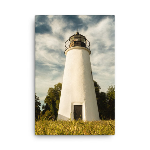 Turkey Point Lighthouse Standing Tall Coastal Landscape Canvas Wall Art Prints