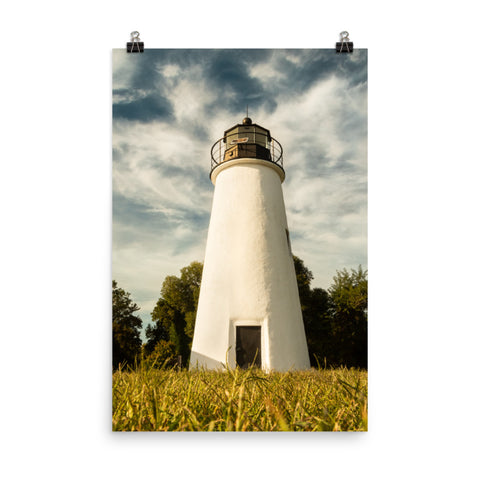 Turkey Point Lighthouse Standing Tall Landscape Photo Loose Wall Art Print