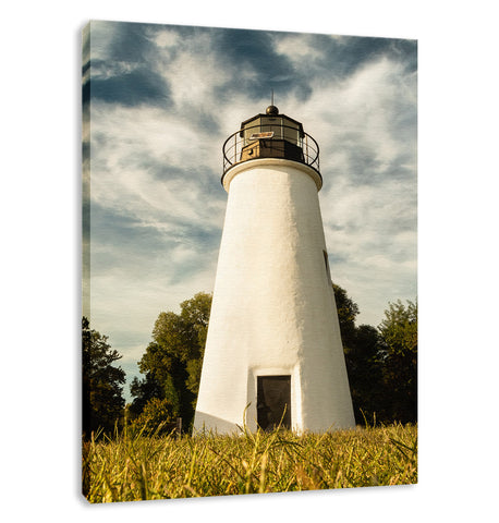 Turkey Point Lighthouse Standing Tall Landscape Fine Art Canvas Wall Art Prints