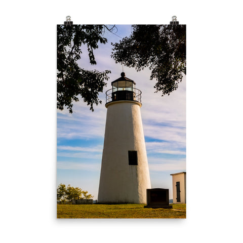 Turkey Point Lighthouse in the Trees Landscape Photo Loose Wall Art Print