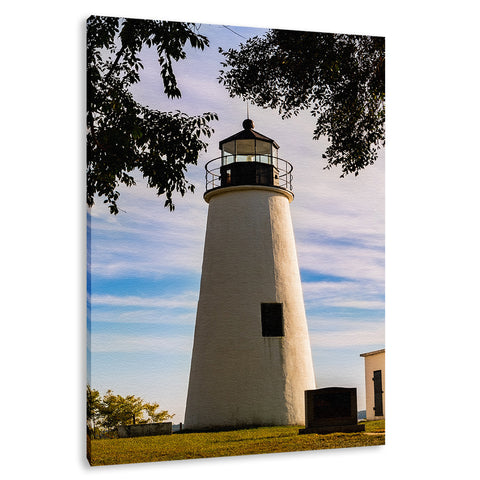 Turkey Point Lighthouse in the Trees Landscape Fine Art Canvas Wall Art Prints