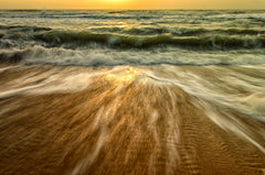 Washing Out to Sea Nature / Coastal Photo Fine Art & Unframed Wall Art Prints