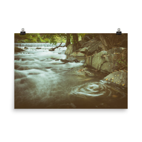 Water Swirl Landscape Photo Loose Wall Art Prints