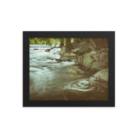 Water Swirl in the River Rustic Landscape Framed Photo Paper Wall Art Prints