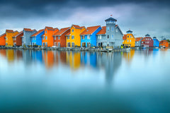 Blue Morning at Waters Edge Groningen Netherlands Europe Landscape Wall Art & Canvas Prints