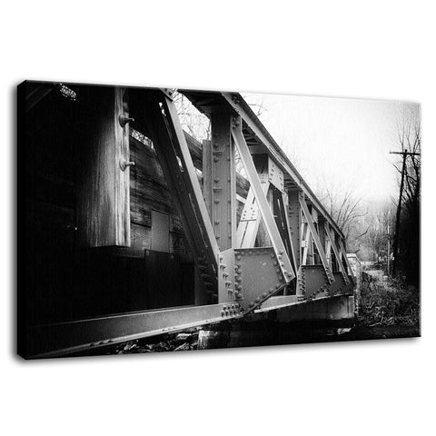 White Clay Creek Bridge Rural Landscape Photo Fine Art Canvas Wall Art Prints