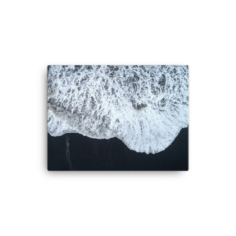 White Waters and Black Sand Coastal Landscape Canvas Wall Art Prints