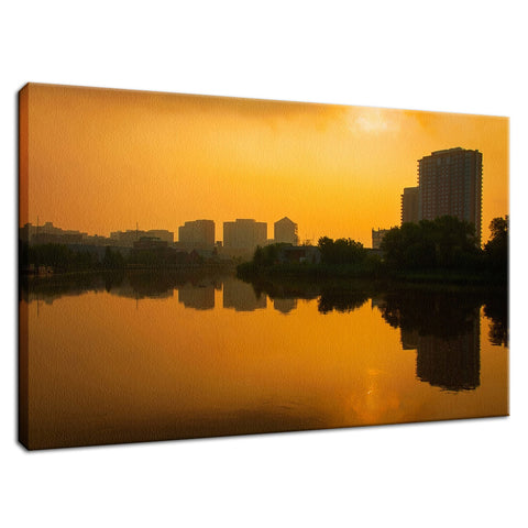Wilmington at Sunrise Urban Landscape Fine Art Canvas Wall Art Prints