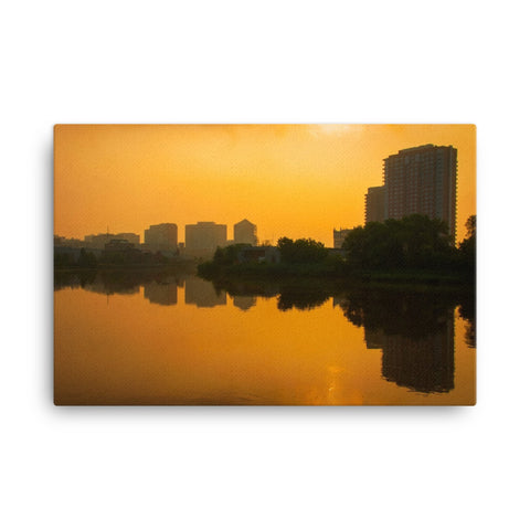 Wilmington at Sunrise Urban Landscape Canvas Wall Art Prints