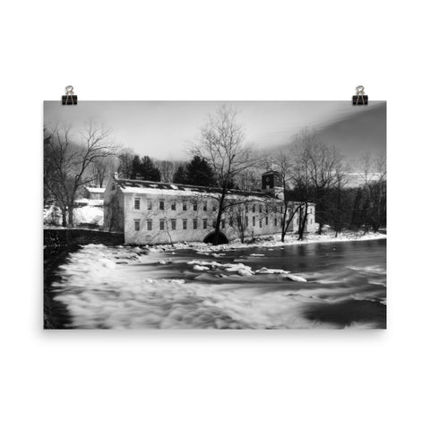 Winter at Powder Mill Landscape Photo Loose Wall Art Prints