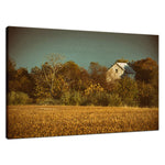 Landscape Photo Abandoned Barn In The Trees Colorized Fine Art Canvas & Wall Art Prints