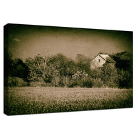 Abandoned Barn In The Trees Vintage Rural Landscape Scene Fine Art Canvas Wall Art Prints