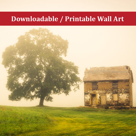 Abandoned House on Adams Dam Rd Landscape Photo DIY Wall Decor Instant Download Print - Printable