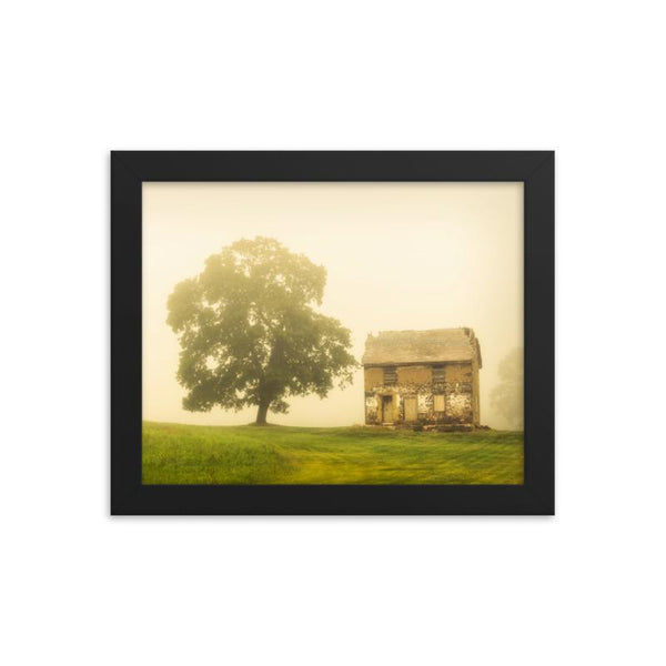 Abandoned House Farmhouse Style / Rural Landscape Scene Framed Photo Paper Wall Art Prints