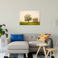 Abandoned House in Foggy Field Fine Art Canvas & Unframed Wall Art Prints - PIPAFINEART
