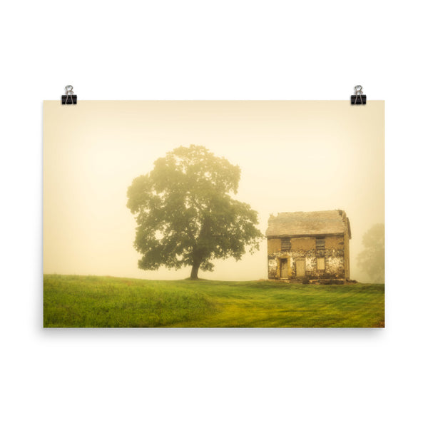 Abandoned House on Adams Dam Rd Rural / Farmhouse Landscape Scene Photo Loose Wall Art Prints Unframed