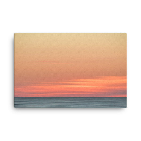 Abstract Color Blend Ocean Sunset Coastal Landscape Canvas Wall Art Print  - PIPAFINEART