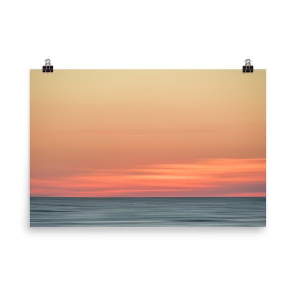 Abstract Color Blend Ocean Sunset Coastal Landscape Photo Paper Poster  - PIPAFINEART