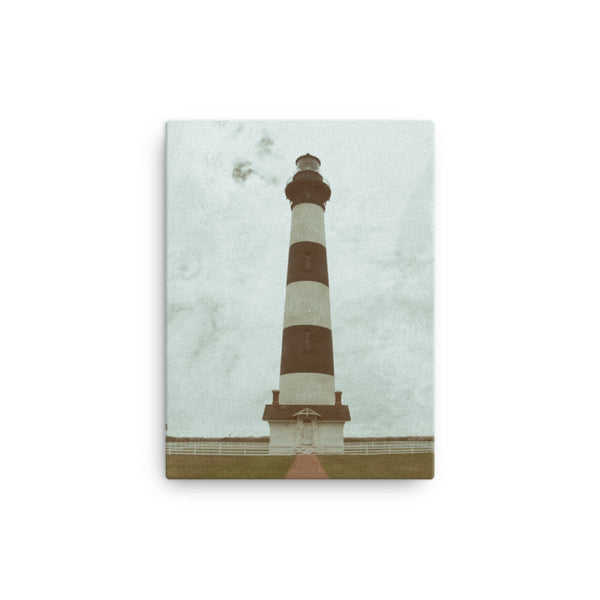 Aged Colorized Bodie Island Lighthouse Canvas Wall Art Prints  - PIPAFINEART
