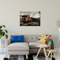 "Aged Steam Train Abstract Photo Fine Art Canvas & Unframed Wall Art Prints 24"" x 36"" / Fine Art Canvas - PIPAFINEART"