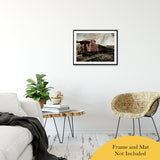 Aged Steam Train Abstract Photo Fine Art Canvas & Unframed Wall Art Prints - PIPAFINEART