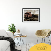 "Aged Steam Train Abstract Photo Fine Art Canvas & Unframed Wall Art Prints 24"" x 36"" / Classic Paper - Unframed - PIPAFINEART"