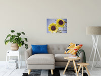 "Aged Sunflowers Against Sky Floral / Nature Fine Art Canvas Wall Art Prints 20"" x 30"" - PIPAFINEART"