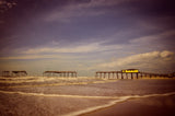 Aged View of Frisco Pier Coastal Fine Art Canvas & Unframed Wall Art Prints - PIPAFINEART