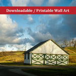 Aging Barn in the Morning Sun Color Rural / Farmhouse Style Landscape Photo DIY Wall Decor Instant Download Print - Printable